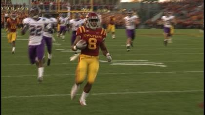 James White runs for a touchdown in Iowa State's 37-3 win over Western Illinois.