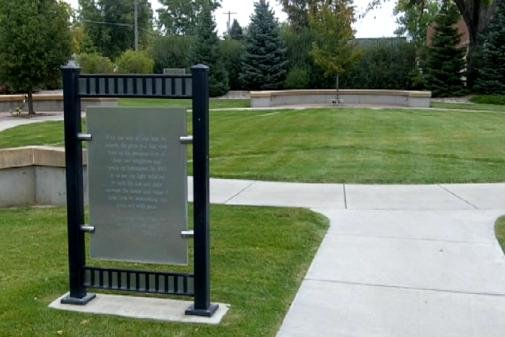 The ceremony will be held at the memorial garden where the US Bank once stood.