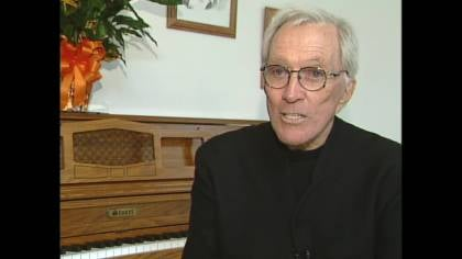 Andy Williams, pictured during an interview with KTIV at his boyhood home in Wall Lake, Iowa in October 2005