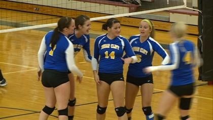Briar Cliff edged Morningside, 3-2, in GPAC volleyball action on Wednesday.