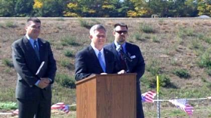 Governor Dave Heineman said Tuesday's groundbreaking sends a powerful message to veterans.