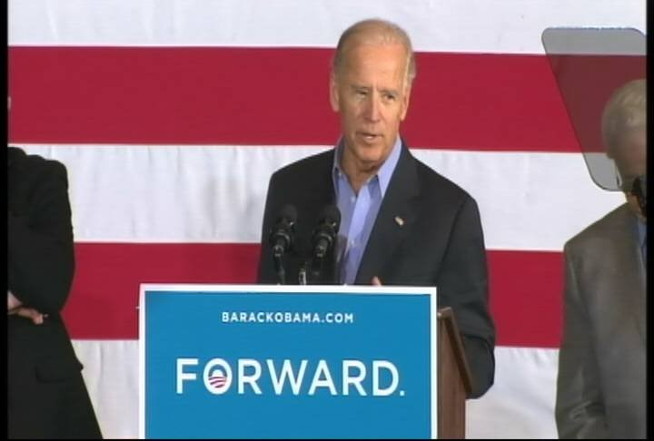 "Biden said a $5 trillion tax cut is the ""centerpiece"" of Romney's campaign for president."