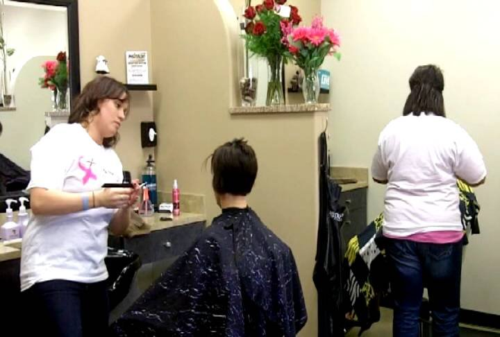 Mirage Salon and Spa is holding their first ever Cut-a-Thon with the proceeds from their clients going to the Carson Cancer Center.