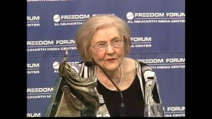 &quot;It's an overwhelming honor,&quot; Marilyn Hagerty, a columnist said.