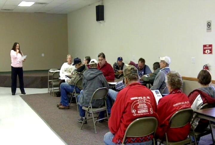 The U.S. Postal Service hosted an open forum in Hoskins, Nebraska Tuesday.
