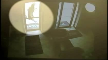 The Anytime Fitness surveillance camera caught a deer running right into the gym's front door.