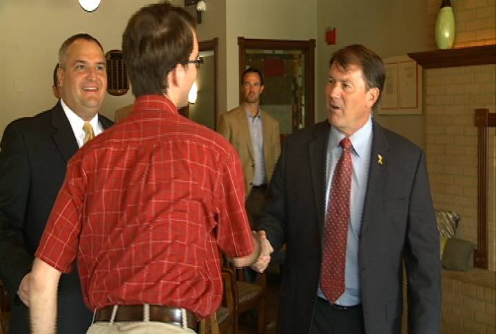 The Republican has filed paperwork to explore a run in 2014 for the seat currently held by Democratic Senator Tim Johnson.