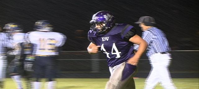 Tanner Lambert had two first half touchdowns in Dakota Valley's 20-19 win over Tea Area.