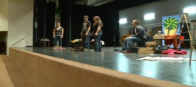 North High School students rehearse one-act and monologues that tackle teen issues.