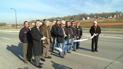 Local leaders cut the ribbon this morning on the $4.7 million Wesley Parkway.