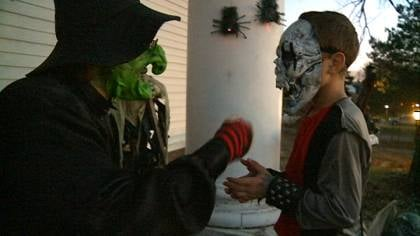 Sioux City trick-or-treaters are out in full force meeting all sorts of witches.