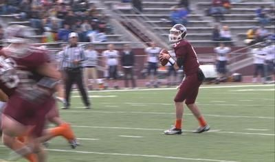 Joel Nixon threw five touchdowns in Morningside's 50-0 win.