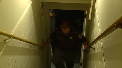 Whenever Antelope County Sheriff Robert Moore takes these stairs, he's extra cautious.