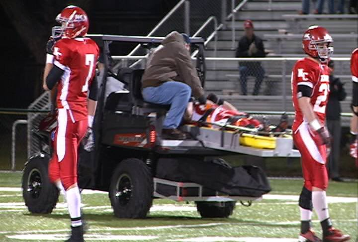 Norfolk Catholic senior linebacker Isaac  Pfeifer suffered a spinal injury on a tackle Tuesday night in a 51-8 win over Fort Calhoun.