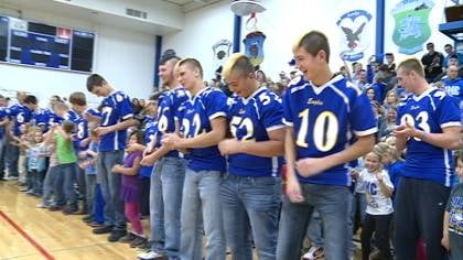 M-M-C held a pep rally on Wednesday before the Eagles headed to Cedar Falls.