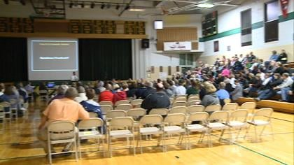 Community members learn more about proposal to merge Le Mars Gehlen and Spalding Catholic schools.