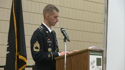 Students and Siouxlanders met for a salute to the troops at WIT.