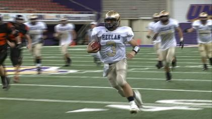 Heelan quarterback Trent Solsma threw for four touchdown's in a 42-14 win over Grinnell.