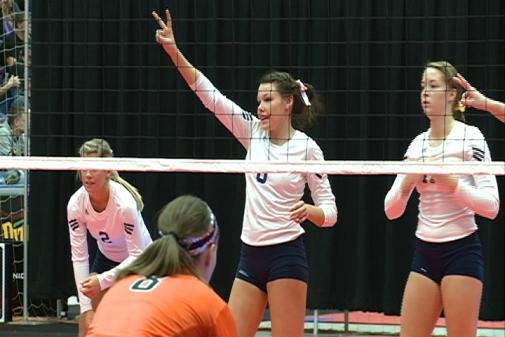 Bishop Heelan lost 3-1 in the Class 4A state volleyball semifinals to Solon on Friday.
