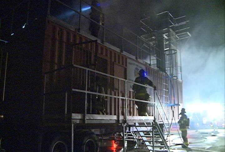 Sioux City firefighters are putting their skills to the test, under the lights.