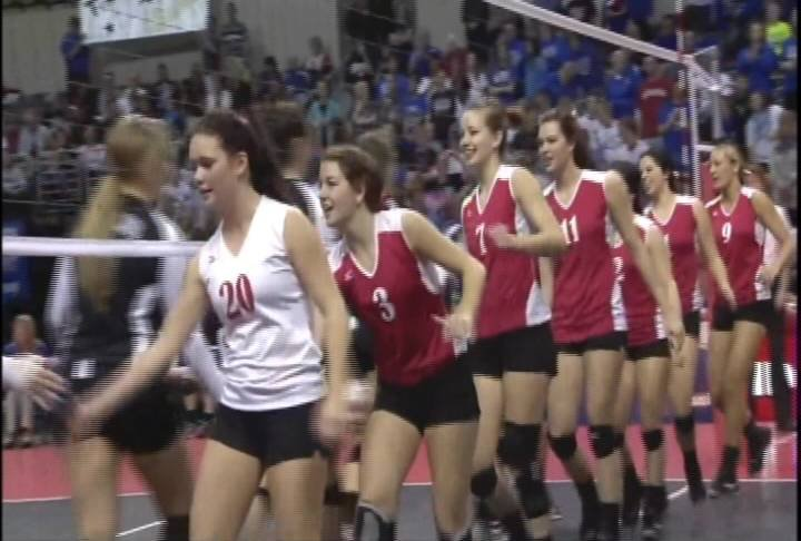 Hartington Cedar Catholic won the Class C2 volleyball title over Lutheran Northeast on Saturday.