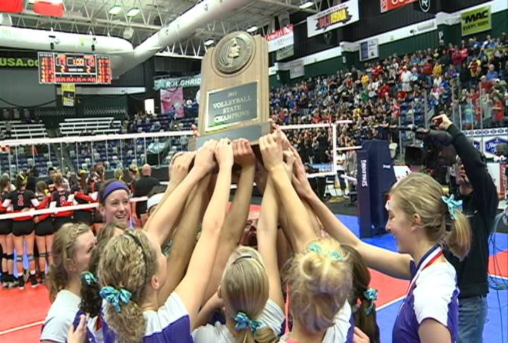 The Dutch won their first volleyball championship with a 3-2 win over Union.