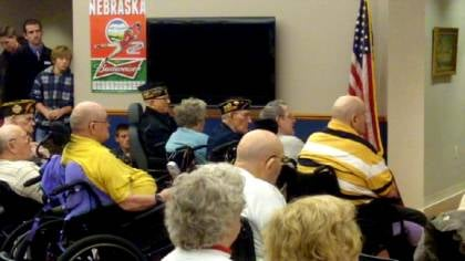 Past State VFW Commander John Iossi reminded everyone of the year-round call for patriotism.