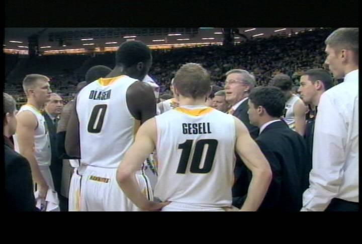 Mike Gesell had 15 points as Iowa beat Central Michigan 73-61 on Monday night.