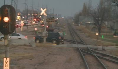 Union Pacific Railroad and local enforcement officers are riding the rails looking for motorists who run the trains flashing lights.