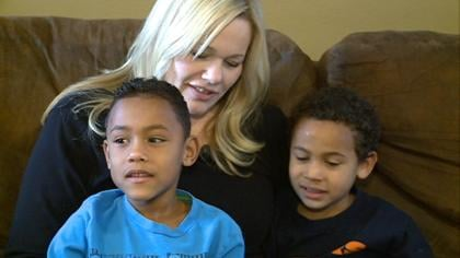 Tonya Schmitz with her two sons