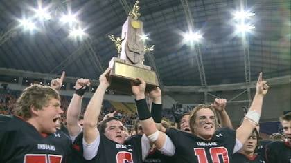 Spirit Lake won their first state football championship with a 17-15 win over number-1 Mediapolis.