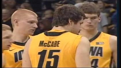 Zach McCabe had 8 points in Iowa's win.
