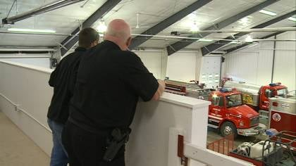 Firefighters moved into their new facility two weeks ago, and have been using it for the last week.
