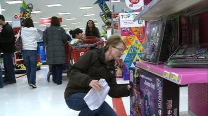 Shopper Karline Stabe looks for deals on Black Friday.