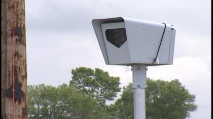 The camera will monitor red light violations for west bound traffic.
