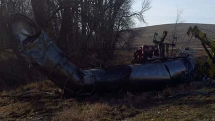 Crews waited until morning to clean up the wreck and the milk.