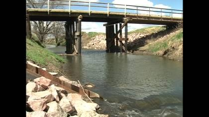 The average bridge in Woodbury, Plymouth and Cherokee counties is about 40 years old.