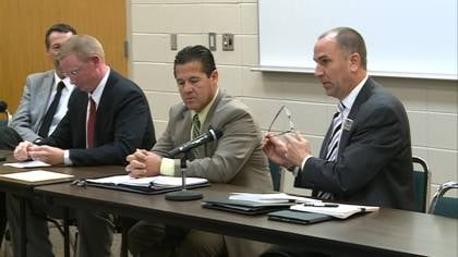 Superintendents from area schools talk with lawmakers about their budget needs.