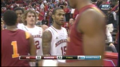 Ray Gallegos made a career high three, 3-pointers in Nebraska win.
