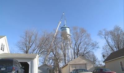 A worker fell while working on Pierson Iowa's water tower Tuesday.