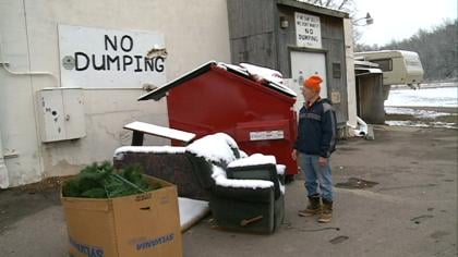 The DAV store in Sioux City is paying hundreds of dollars a month to haul away trash that's dumped in the back of the store.
