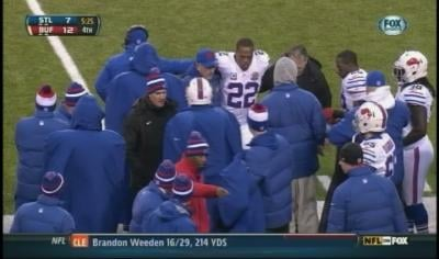 Buffalo Bills running back Fred Jackson has a sprained ligament in his right knee that could force him to miss the rest of the season.