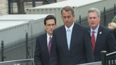 Speaker Boehner met privately with the President and his staff.