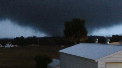 A possible tornado affected several dozen homes in the south Volusia County area.