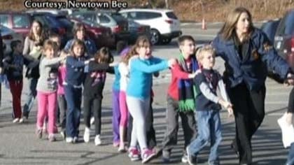 Frantic parents rushed back to Sandy Hook Elementary School.