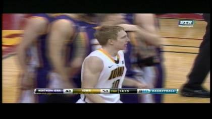 Freshman Mike Gesell added a career-best 23 points as Iowa beat Northern Iowa 80-73 Saturday in the inaugural Big Four Classic.