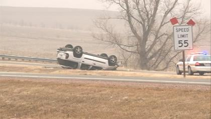 KTIV's Sarah Te Slaa shot this accident near Lawton.