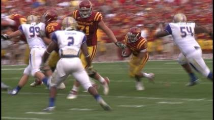 Iowa State beat Tulsa, 38-23, on September 1st in Ames and will meet again in the Liberty Bowl.