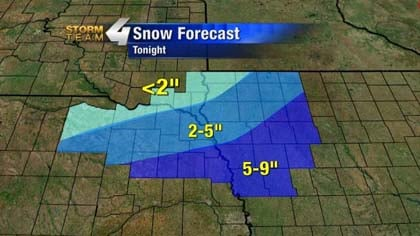 Snow Forecast for Siouxland.
