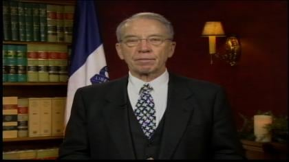 U.S. Senator Chuck Grassley, of Iowa, is speaking out gun laws.